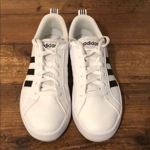 Adidas Size 7 White Sneakers. Worn once.
